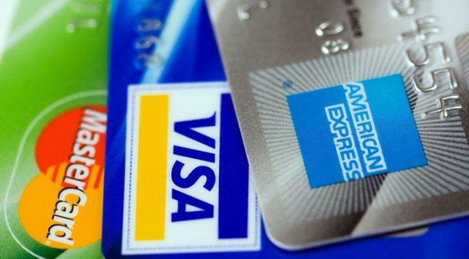 複数のクレジットカード画像