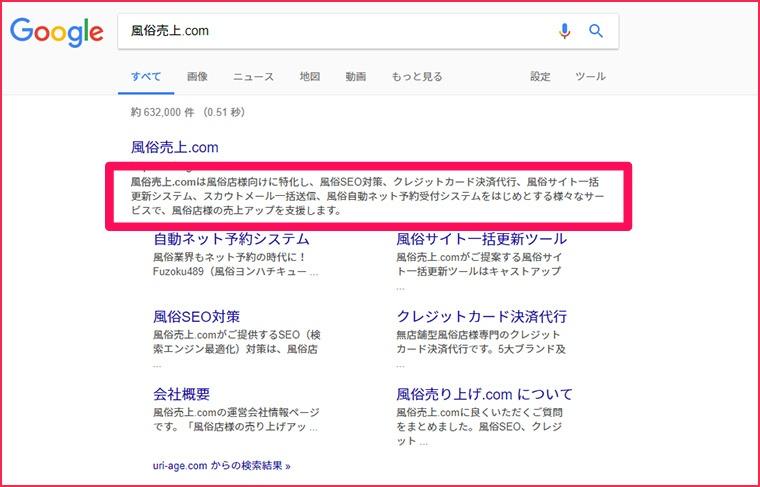 風俗売上.comのスニペット