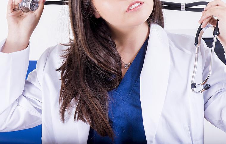 医療従事者の白衣姿