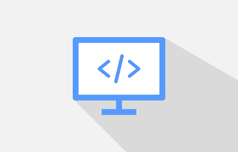 HTMLタグを表示しているPC