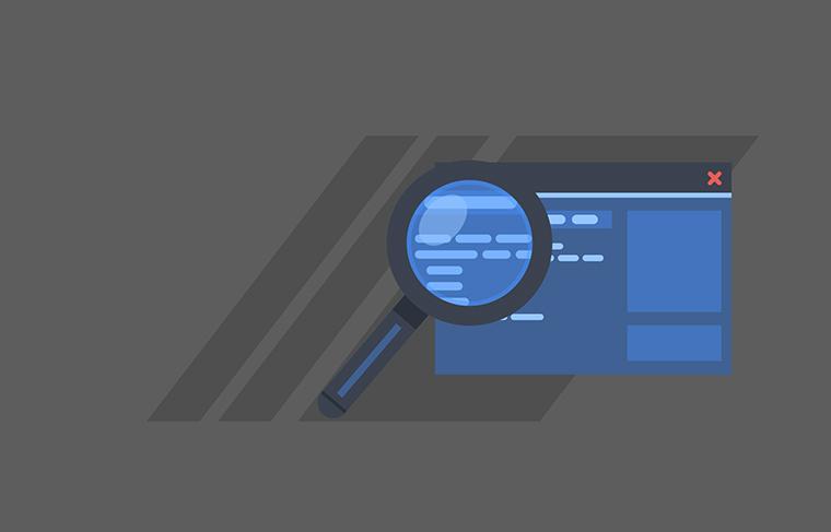 虫眼鏡の検索イメージ