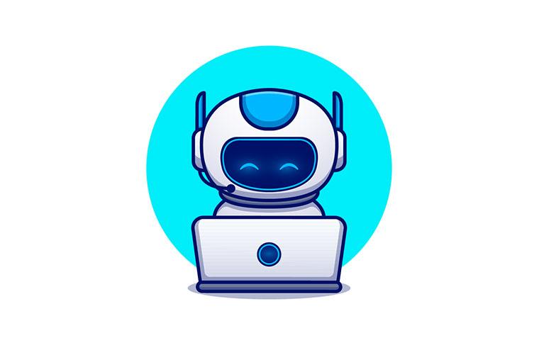 検索するロボット